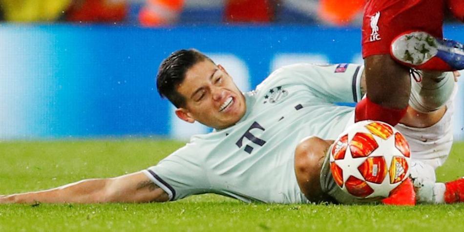 Así fue el partido de James en Bayern vs. Liverpool: sacrificio en marca | Colombianos en el Exterior | Futbolred