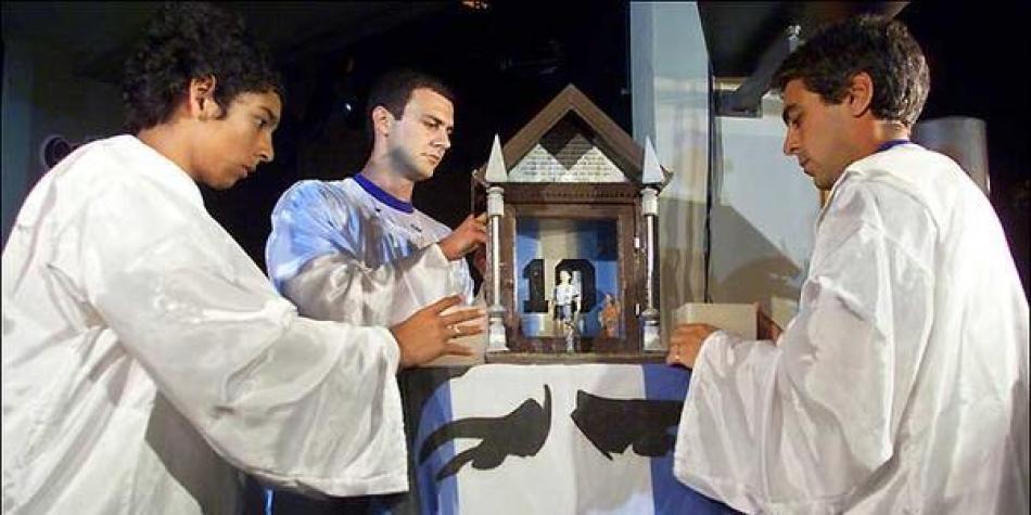 Así es la Iglesia Maradoniana un lugar para los fieles del '10' argentino |  Curiosidades de fútbol | Futbolred