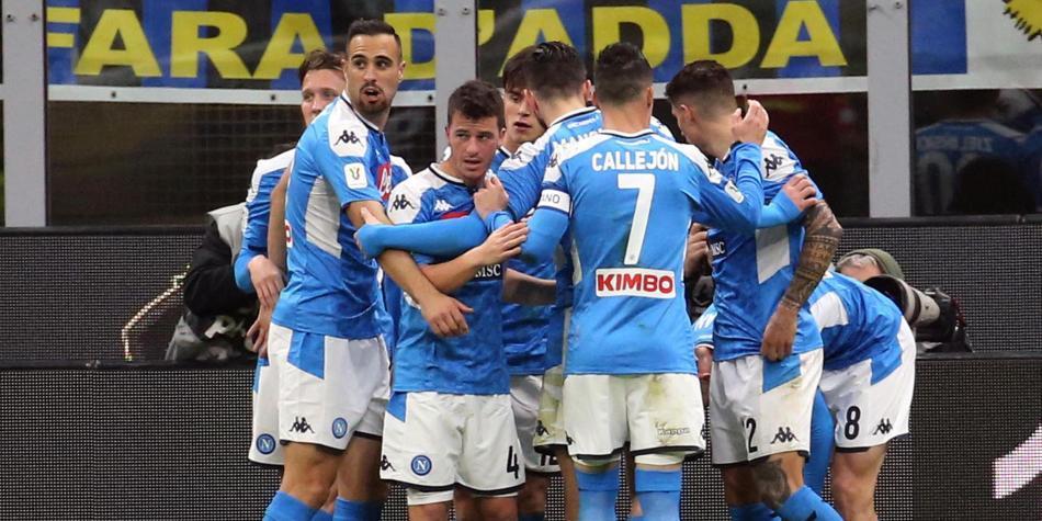 Napoli Vs Inter  Resultado Del Partido En Copa Italia Con
