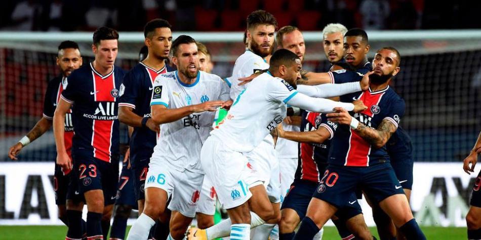 PSG vs Marsella GOLES: cinco expulsados en el clásico francés | Otras Ligas de Fútbol | Futbolred