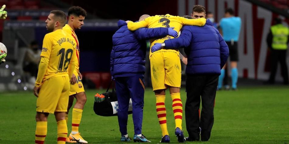 Barcelona: Gerard Piqué parte médico lesión sufrida contra Atlético de  Madrid | Liga de España | Futbolred