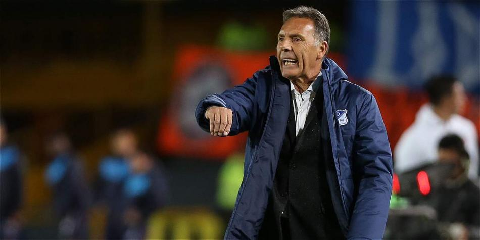 Miguel Ángel Russo, DT de Millonarios.