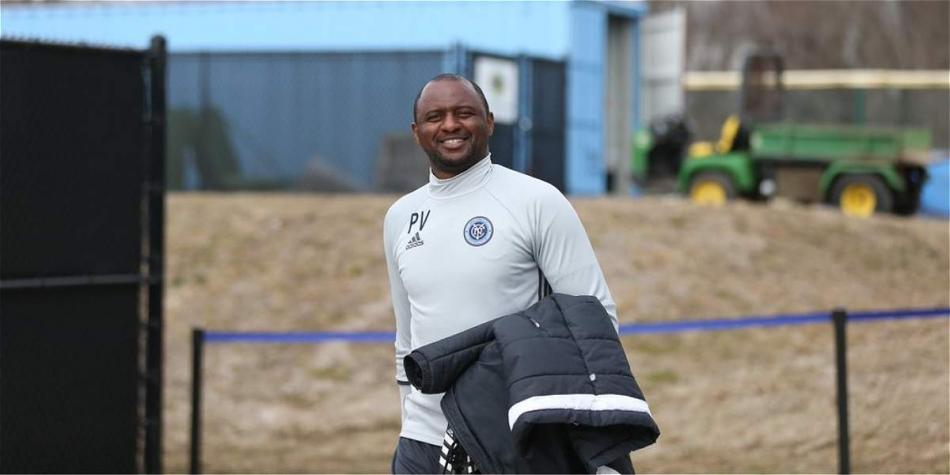 Patrick Vieira, actual técnico del New York City FC.