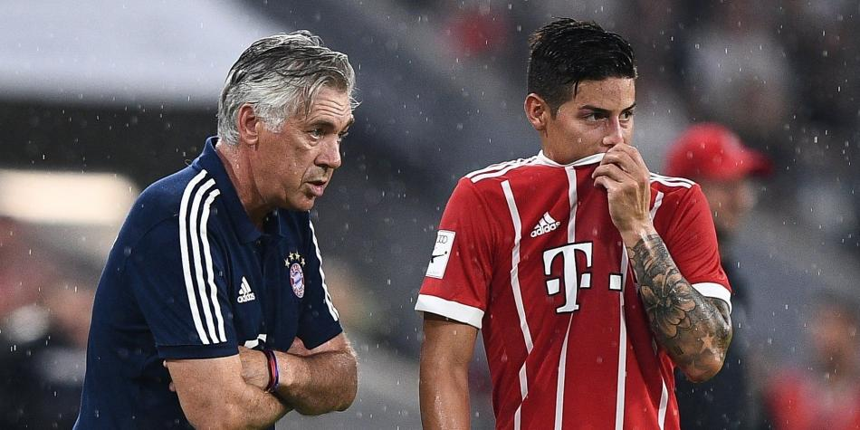 James y Ancelotti