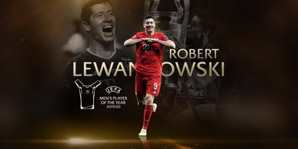 Robert Lewandowski, premio, mejor jugador del año UEFA 2019/2020 |  Champions League | Futbolred