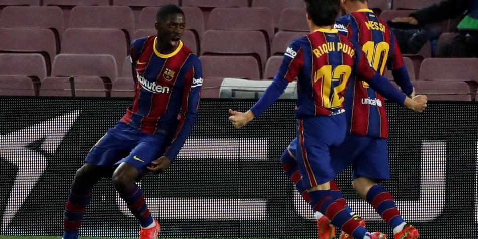 Barcelona: gol de Dembele y victoria 1-0 contra Real valladolid en La Liga 2020-21   Liga de España   Futbolred