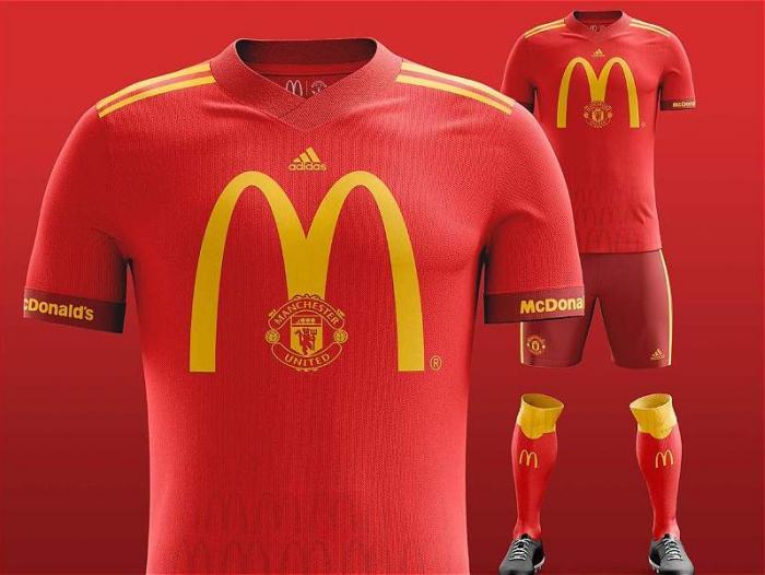 ae393a5c27de6 Manchester United haría una combinación ideal con los colores de McDonald s.