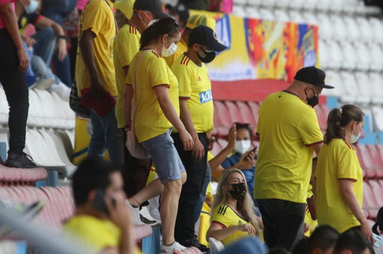 Así fue regreso de público al estadio Metropolitano Barranquilla, Colombia  vs Argentina, fotos | Selección Colombia | Futbolred