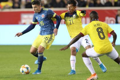 Colombia vence a Ecuador en su último ensayo, de la mano de Uribe