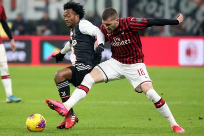 Con Cuadrado titular, Juventus logró un empate agónico contra Milán