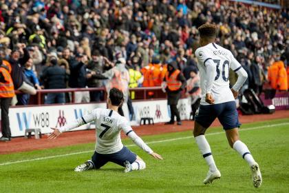 Tottenham sufrió hasta el final, pero ganó: 2-3 sobre Aston Villa