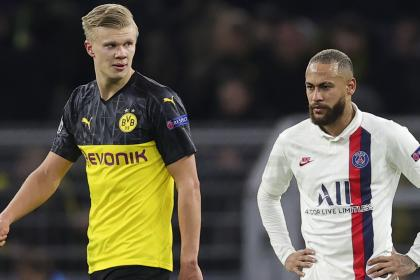 Dortmund se burla de un jugador del PSG recordándole a Haaland
