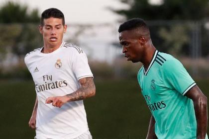 James en la lista: Real Madrid citó su equipo para enfrentar a Éibar