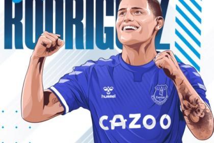 ¡Oficial! James Rodríguez por fin es jugador del Everton de Inglaterra