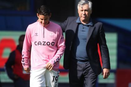 'Están tristes pero deben concentrarse': Ancelotti sobre James y Mina