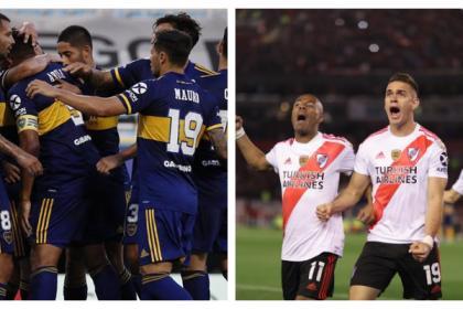 ¡Cinco colombianos en cancha! Así formarán Boca Juniors y River ...