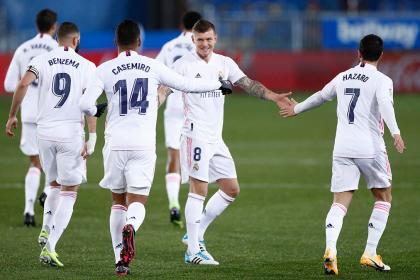 Real Madrid reaccionó sin Zidane: goleada 1-4 sobre el Alavés