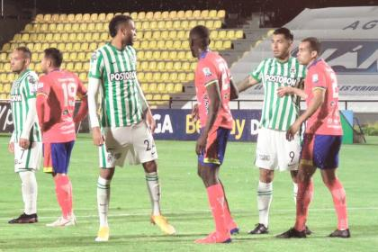 Con lo justo, Atlético Nacional rescató un punto del galeras