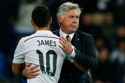 Guardiola va por James y Ancelotti: racha de victorias consecutivas
