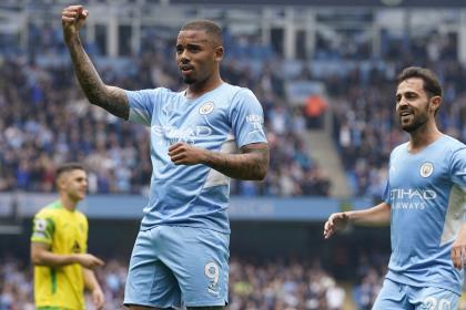 Goleó Manchester City en la Premier: cinco pepas para los canarios