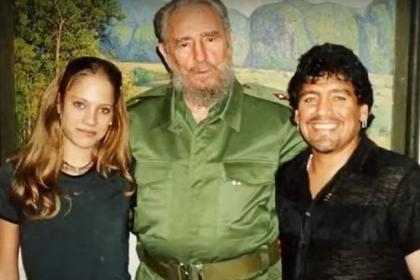 Maradona y su novia cubana de 16 años: revelaciones sobre Fidel Castro