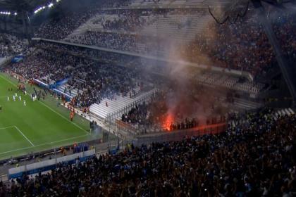 Incidentes en Marsella vs. Galatasaray: suspendieron el partido