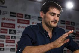 Iker Casillas en su despedida de Real Madrid.