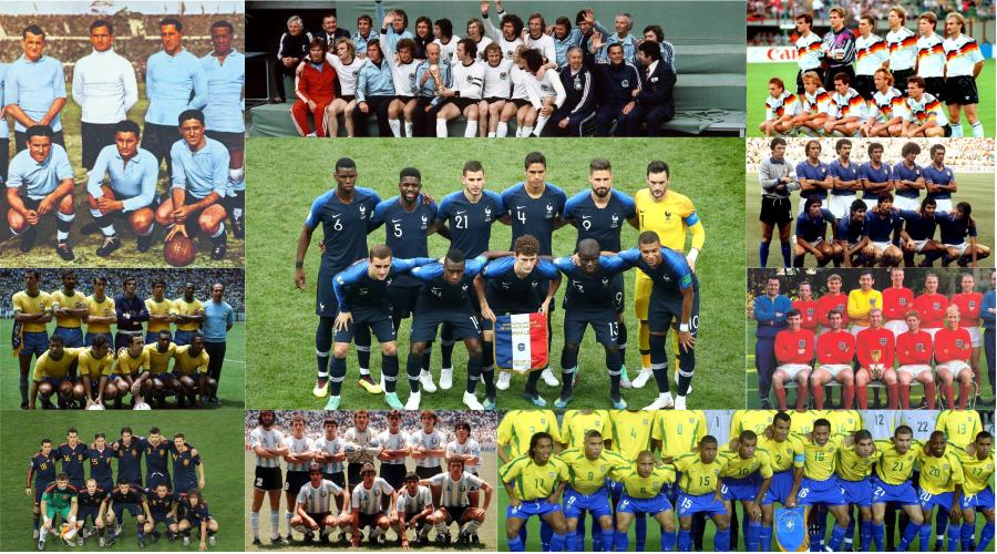 Francia en 2018: las demás selecciones campeonas de la Copa del Mundo